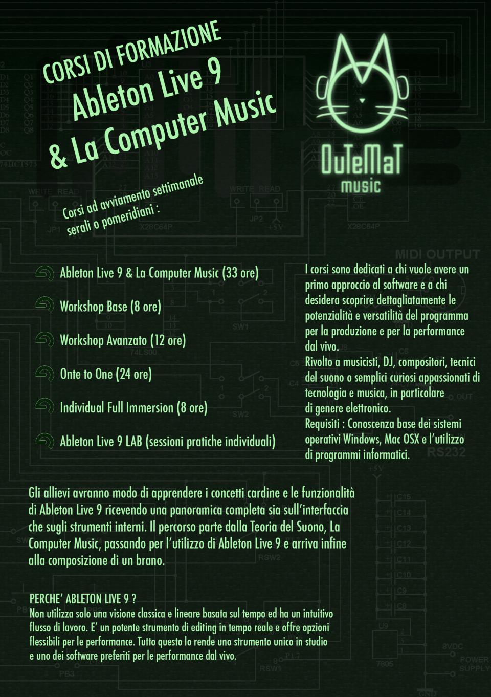 corso ableton live 9 computer music
